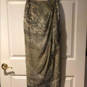 Vintage NWT Emanuel Ungaro Silk Wrap Skirt 2/36